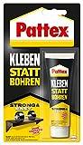 Pattex Montagekleber Kleben statt Bohren, starker Kraftkleber für sofortigen Halt, universell einsetzbarer Baukleber, Kleber mit hoher Endfestigkeit, 1 x 50g