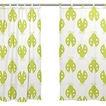 jstel Lot de 2voile rideau de fenêtre, vert mignon Beatles, en tulle Transparent Rideau Drapé Lit 139,7x 198,1cm deux panneaux de