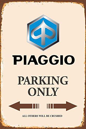 Piaggio Parking only park schild tin sign schild aus blech garage