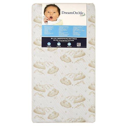 Dream On Me Twilight 5 inches 80 Coil Spring Crib and Toddler Bed Mattress