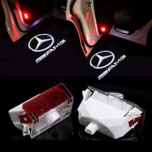 HUAYIN Auto portiera Logo luce LED Proiettori Sottoporta Luce Del Portello di Automobile (GLK-AMG)