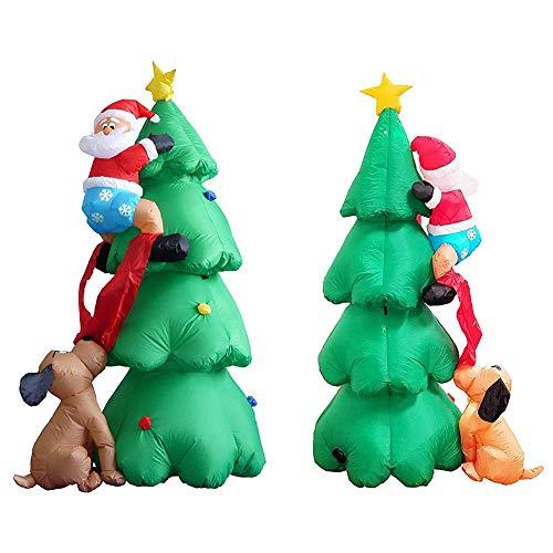 L&Z 1.8M Merry Christmas Weihnachten Licht Aufblasbarer Weihnachtsbaum, LED Beleuchtung Saisonale...