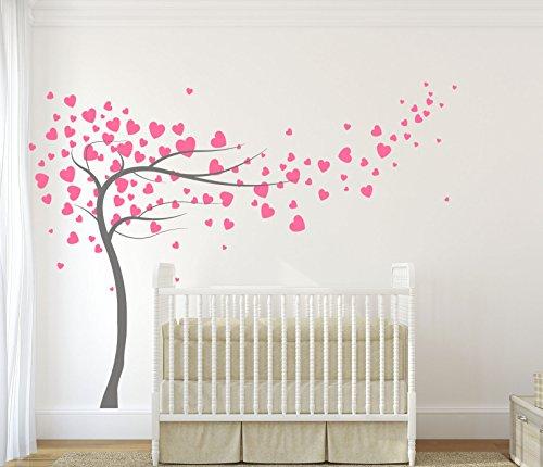 diseno-divil-premium-de-corazones-y-arbol-calidad-mate-vinilo-adhesivo-dark-grey-powder-pink-hearts-