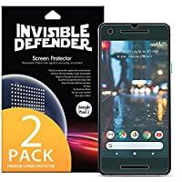 Google Pixel 2 Screen Protector, Invisible Defender [Full Coverage][2-Pack] Edge to Edge Curved Side Coverage Guaranteed [Case Compatible] Super Thin HD Clearness Film for Google Pixel2