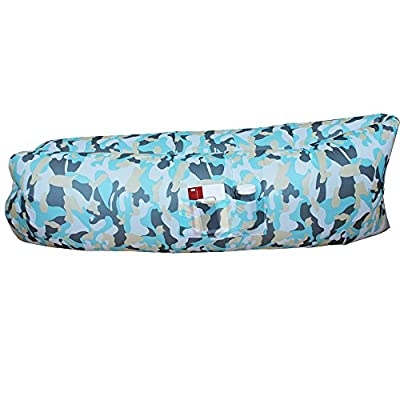 AMZTOLIFE Inflatable Lounger Air Sleeping Bag Waterproof Wind Breeze Bean Bag for Lounging, Camping, Beach, Fishing, Kids, Chilling, Parties, Swimming Pools, Camping - inexpensive UK light store.