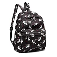 Miss LuLu Backpack Rucksack Travel Camping Print School Bags for Teenager Girls