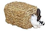 Kerbl, casetta in vimini con 2 buchi, 28cm, modello 84053. Adatta per il consumo. Priva di fili pericolosi e parti in plastica Può essere usata come un rifugio, nido o parco giochi per conigli nani, porcellini d'India, furetti o cincillà. Vimini nat...