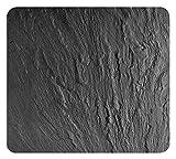 Wenko 2712984500 Multi-Platte Schiefer für Glaskeramik Kochfelder, Schneidbrett, Gehärtetes Glas, schwarz, 56 x 50 x 0,5 cm