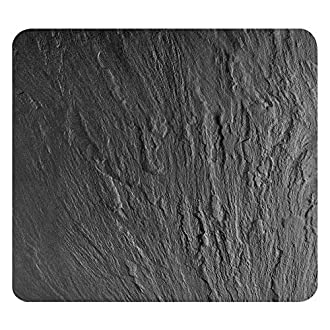 Wenko 2712984500 multi-vassoio ardesia per vetro-ceramica Koch campi, tagliere, in vetro temperato, Nero, 56 x 50 x 0,5 cm