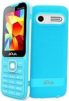 "Aqua Fusion - 2.4"" Dual SIM Basic Keypad Mobile Phone with Auto Call Recording and Vibration Feature - Blue"