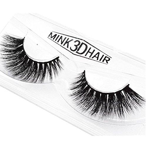 1 paar Luxus 3D falsche Wimpern, MMLC weiche Streifen Wimpern lang natürliches Make-up für Fashion Women (B)