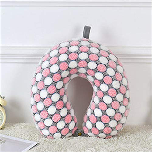 BBQBQ Kissen U-Shaped Pillow Plush Neck Pillow Desk car Pillow pink 30 * 30 * 12cm