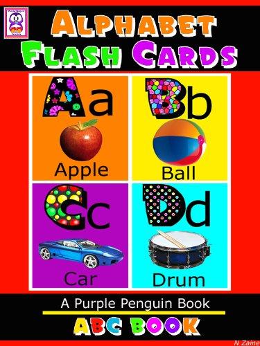 ABC Book - Alphabet Flash Cards (Purple Penguin Early Reader Books 3) (English Edition)