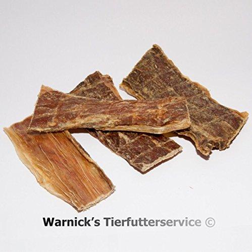 Warnicks Tierfutterservice 2 KG Rinderdörrfleisch - Schlundfleisch - Dörrfleisch - 2 x 1000g - Rinderschlund