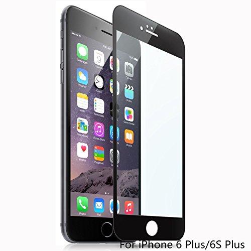 suptmax iPhone 6S protezione per schermo, iPhone 6in vetro temperato da bordo a bordo [3d Touch compatibile] [Anti-impronte] Apple iPhone 6S Ballistic Glass nero