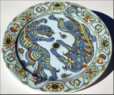BOPLA! Porcellana GRANDE PIATTO 27 cm FU in ASIA Serie