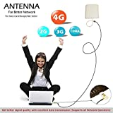 2G/3G/4G CDMA Data Card Antenna, CRC9 Adaptor Complete Kit With 20 Meter Cable For All Network Operators Like (Tata,Docomo, Airtel, MTNL,BSNL, Cellone, Virgin, Videocon, MTS, Reliance, Idea, Vodafone, Uninor & Escotel)