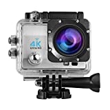 LESHP 4K Action Kamera 1080P 12MP Full HD WiFi Sport kamera 1050 mAh wasserdicht Helmkamera 170 °...