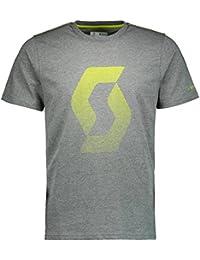 Scott Camiseta de co Icon Factory Team S/SL Dark Grey Melange/Sulphur amarilla–XXL