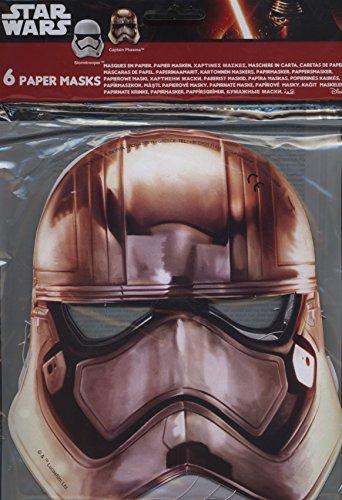 procos-86226-mascherine-carta-star-wars-stormtrooper-6-pezzi-bianco-grigio