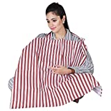 #7: Lula Mom Mother's Red color Stripes Nursing/Feeding Cover