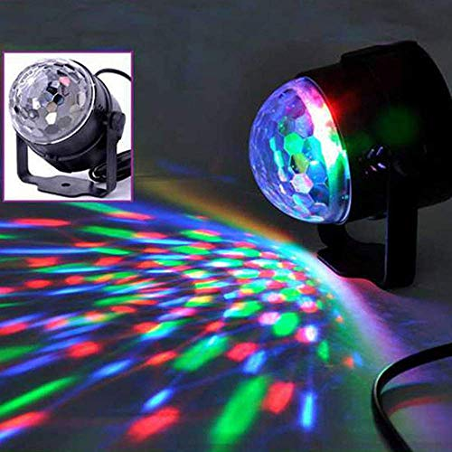 Eulan Auto Sound Control Magic Crystal Stage Lights Rotating Ball Effect RGB LED Light for KTV Xmas Party Wedding Show Club Disco DJ