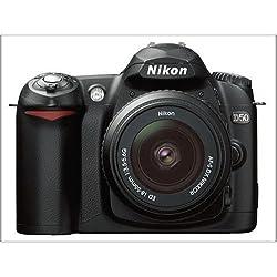 Nikon D50 Appareil photo numérique Reflex 6.1 Kit Objectif AF-S DX 18-55 mm Noir (Reconditionné Certifié)