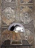 NEWROOM Holztapete Tapete Braun Holz Landhaus Vliestapete Bronze Vlies moderne Design 3D Optik Holztapete Holzwand Naturholz Holzpaneele Vintage inkl. Tapezier Ratgeber