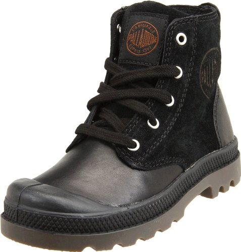 Palladium PAMPA HI LEATHER 52355-046-M Unisex - Kinder Stiefel, Schwarz (BLACK/DARK GUM), 21