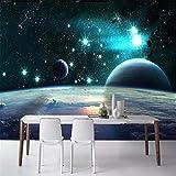 Pbbzl Carta Da Parati Personalizzata 3D Magnifico Universo Pianeta Terra Stelle Sfondo Muro Carta Murale Materiale Impermeabile Di Alta Qualità400X280Cm