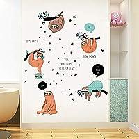 3D Stickerscartoon Warm Animal Sloth Wall Stickers Living Room Bedroom Children