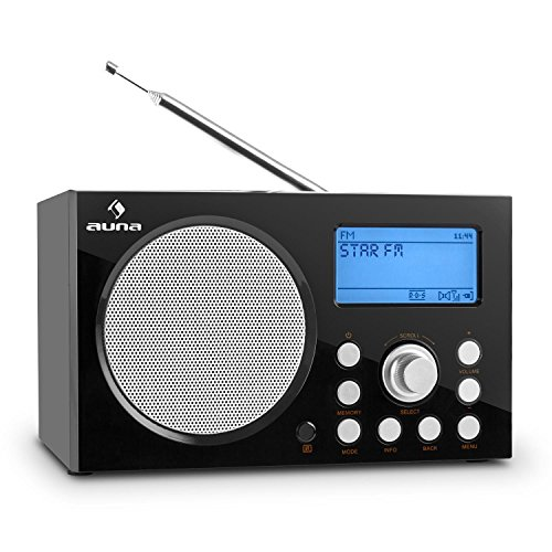 Auna IR-140 Internetradio Küchenradio Wlan Radio Digital Wifi Radiowecker (MP3- fähiger USB-Slot, USB-Ladestation, AUX, DAB/DAB+ Tuner, RDS, UKW-Radio, 2 Weckzeiten, Sleep-Timer) schwarz