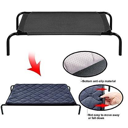 Hero Dog Dog Bed Extra Large Washable Crate Mattress 47 Inch, Soft Non Slip Pet Fleece Cushion Pad Blue XL 8