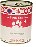 6 x 400 g - Wittis Deftig-Fleischgerichte für Hunde - garantiert OHNE künstliche Vitamine!!- Rind - Lamm - Reis - Gemüse - Dosenfutter ohne Zusätze