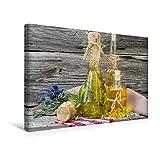 Premium Textil-Leinwand 45 cm x 30 cm quer, Kräuteröle und Kräutersalz für das ganze Jahr | Wandbild, Bild auf Keilrahmen, Fertigbild auf echter Gesunde Küche (CALVENDO Lifestyle)