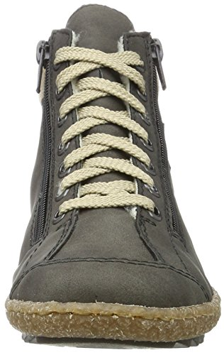 Rieker M2942, Sneaker a Collo Alto Donna Grigio (Smoke/wood/schwarz)