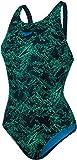 Speedo Boom Allover Muscleback Swimsuit Women Black/Fakegreen/Winsdorblue Größe DE 38 | UK 34 2018 Schwimmanzug