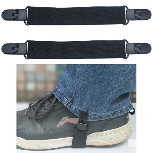 Yongse 2 pezzi Moto elastico Biker pantalone Ends avvio cinghie clip