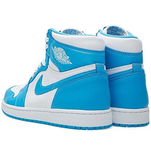 Nike Air Jordan 1 Retro High Og, Chaussures de Sport Homme, Blanc, S White/Dark Powder Blue