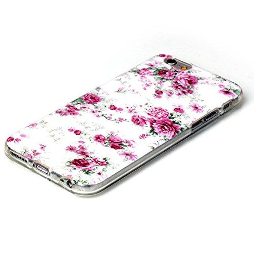 "iPhone 6S Silicone Case,iPhone 6 Coque - Felfy Ultra Slim Mince Flexible Souple Soft Gel Case Cover Apple iPhone 6/6S 4.7"" Coque Housse Coloré Motifs Peint Protection TPU Case Cover Apple iPhone 6/6S  Rose Chinoise"