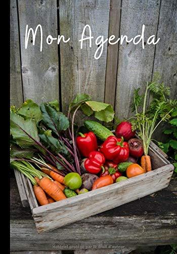Mon agenda: Planning organisé par semaines - coloré et fantaisie - jardin, légumes - carnet du jardinier | 60 semaines au format 7*10 pouces par agenda jardin édition