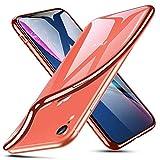 ESR Coque pour iPhone XR, Coque Transparente Gel Silicone TPU Souple avec Cadre de...