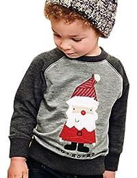 Niños Sudadera Pullover, Xinan Ropa de bebé Abrigos Bebé Lindo niño Outwear Santa Claus Winter Tops Ropa de abrigo cálido 2-7 Años
