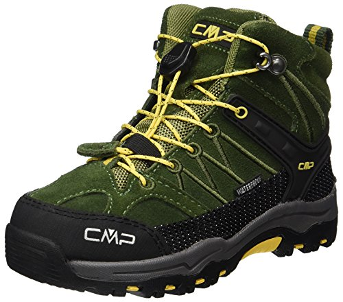 CMP Unisex-Kinder Rigel Mid WP Trekking- & Wanderstiefel, Grün (Loden-Olive), 33 EU