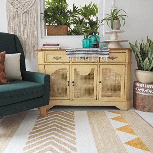 Xuanlan tappeti etnici nordici, tappeti letto camera da letto soggiorno tappeti morbidi tappetino tappeto shaggy area 140 * 200cm