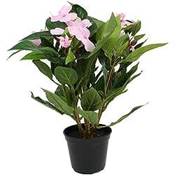 artfleur - künstliche Impatiens Fleißiges Lieschen 30cm Blühpflanze Kunstpflanze Topfpflanze