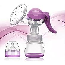 VANKER Extractor de leche 150 ml de leche manual PP bomba de alimentación Lactancia Pezón leche del bebé -- Morado