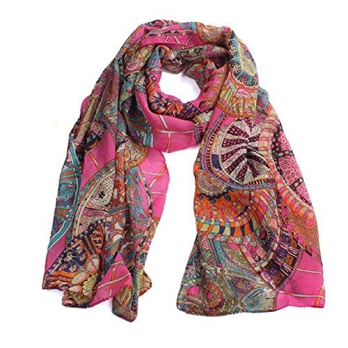 ädchen-Chiffon- gedrucktes Silk lange weiche Schal-Schal-Schal (Hot Pink) (Hot Pink Schal)