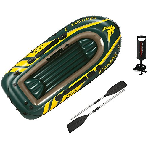 Intex Seahawk 3 Boot - Set inklusive Pumpe und Paddel