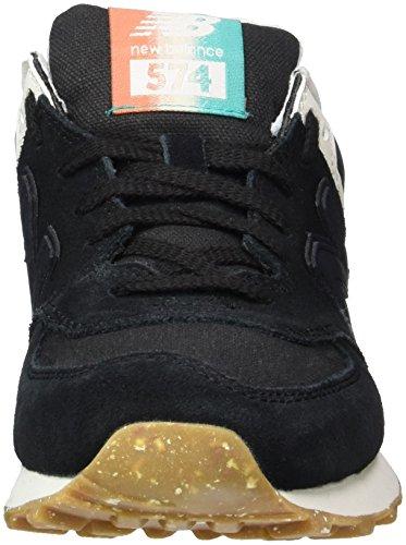 New Balance 574 Global Surf, Baskets Basses Femme Noir (Black)